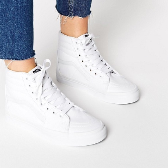 711243f6be Vans Shoes - Vans White High Top Sk8-Hi Sneakers